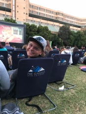 Mac at the outdoor movie