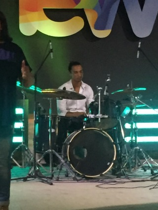 Romero's first Sunday playing drums